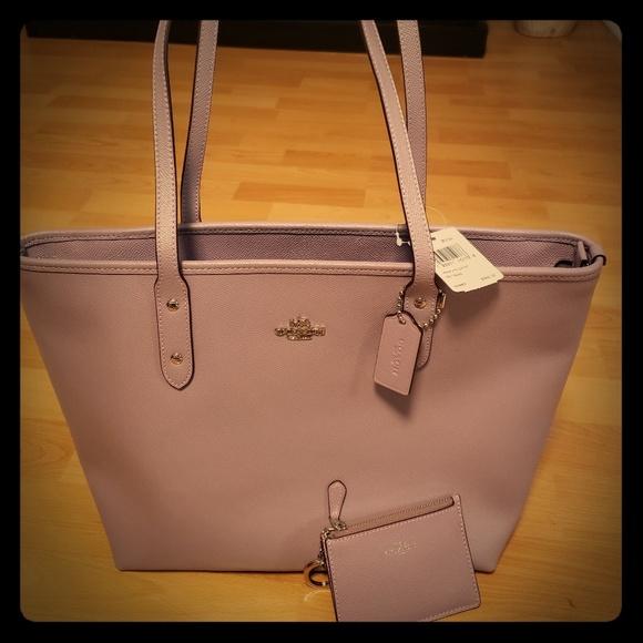 Coach Handbags - BNWT Lavender Coach City Zip Tote and Wallet